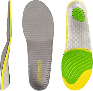 RxSorbo Ultra Plus Stability Sorbothane Arch Support Inserts, Orthotic Insoles C: Women's 9-10, Men's 6.5-7.5 (Metric 39-41)