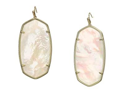 Kendra Scott Faceted Danielle Earrings (Gold/Ivory Mother-of-Pearl) Earring