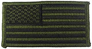 Rothco Iron On/Sew On Embroidered US Flag Patch, Subdued, Normal