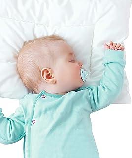 بالش 2 تایی کودک نو پا با روکش بالش (13 18 18) ، بالش های تخت کودک نوپای کودک ضد حساسیت ، بالش مسافرتی نرم و ایمن گواهی شده Oeko-TEX Standard 100 متناسب با تخت کوچک یا تختخواب