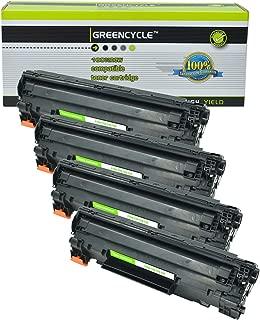 GREENCYCLE 4 PK Compatible CRG 128 Black Toner Cartridge for Canon ImageClass D550, MF4420n, MF4450, MF4550, MF4570dn, MF4580dn