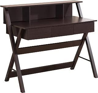 Techni Mobili Fashionable Workstation with Shelf and Storage in Wenge
