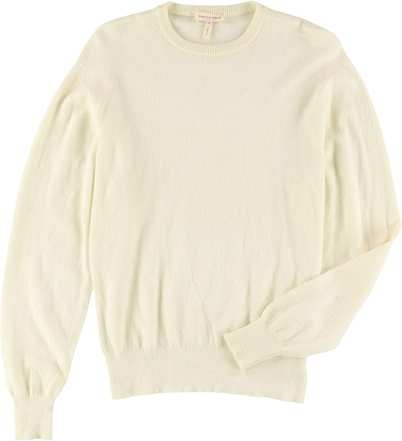Rebecca Taylor Womens LS Knit Pullover Sweater, Off-White, Medium