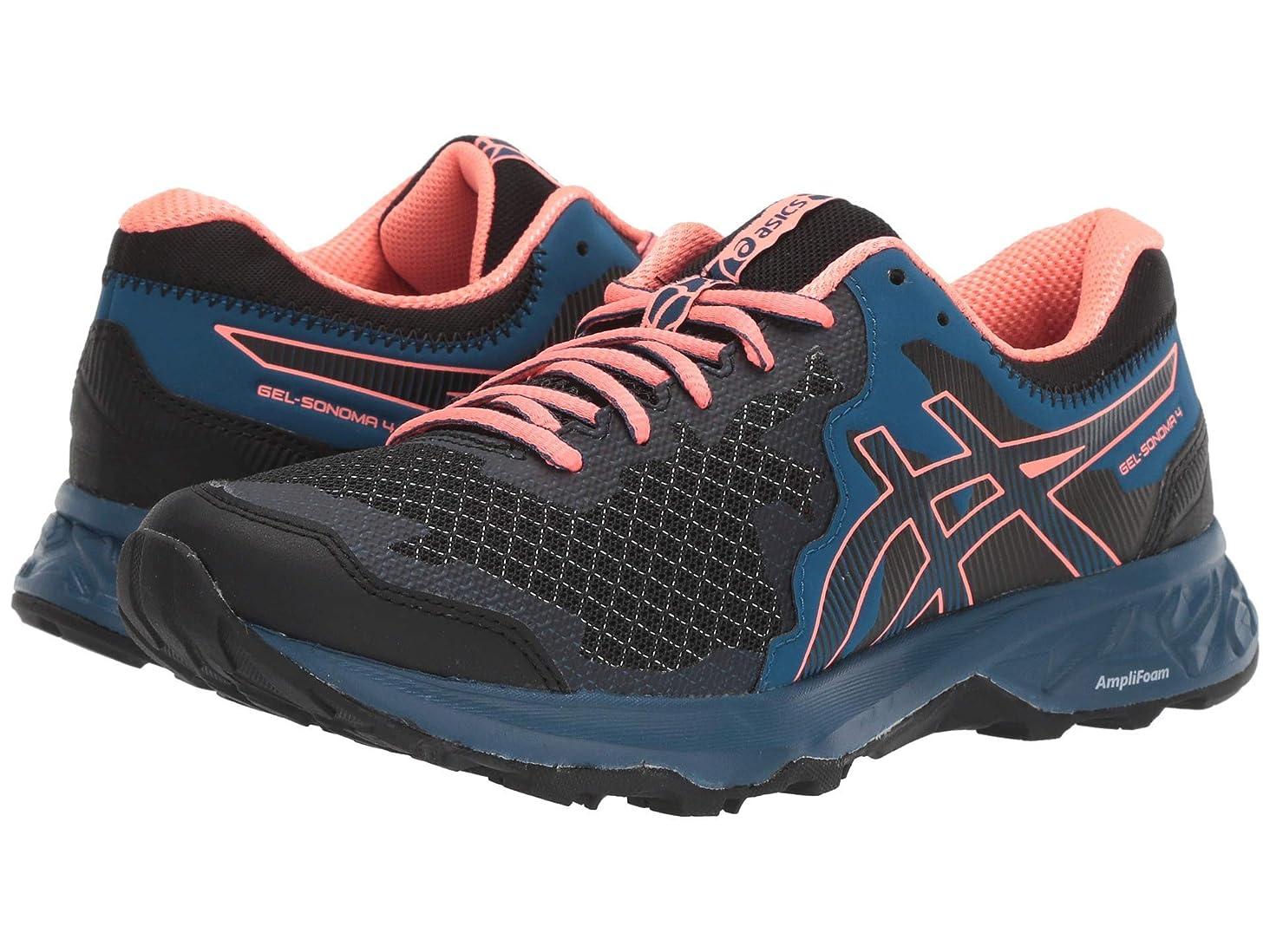 [アシックス] レディースランニングシューズ?スニーカー?靴 GEL-Sonoma 4 Black/Sun Coral 8.5 (25.25cm) B [並行輸入品]