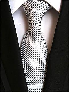 Tie Neck tie with Handkerchief Black with geometric pattern.