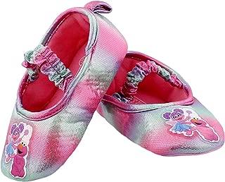 Sesame Street Toddler Girls Slippers Elmo Abby Cadabby Kids Ballerina Non-Slip Grip House Shoes
