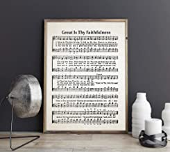 Les Connie Great is Thy Faithfulness Hymn Sheet Music Church Sheet Music Christian Hymn Print