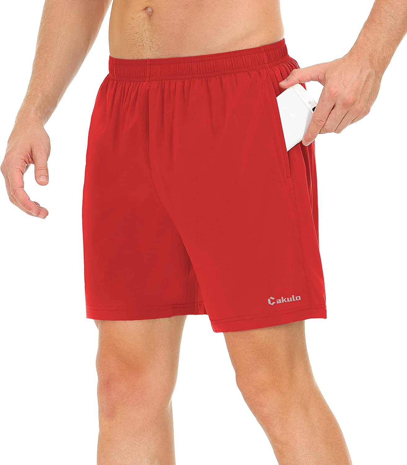 Cakulo Men's Running Shorts 5 Inch Lightweight Quick Dry Athletic Workout Shorts with Pockets: Clothing