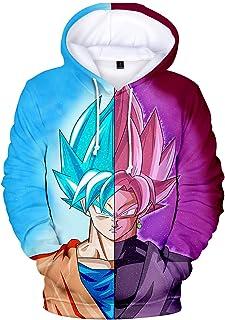 Sudadera con Capucha para Niños Dragon Ball Ropa Deporte Impresión de Anime 3D Son Goku Super Series Pullover