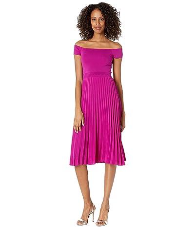 Ted Baker Knitted Bodice Bardot Dress Women