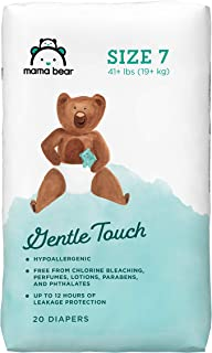 Amazon Brand - Mama Bear Gentle Touch Diapers, Size 7, Assorted Print, 20 Count