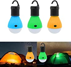 Reching 3 Packs Portable Outdoor Tent Light Emergency Bulb Light for Camping, Hiking, Fishing,Hurricane, Storm, Outage