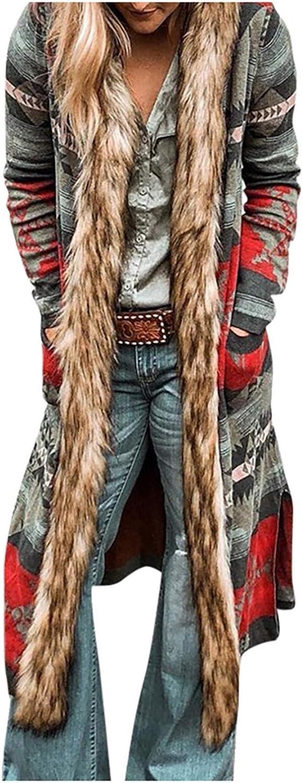 Women Commfy Cardigan Lining Plush Warm Jacket Memphis Max 56% OFF Mall B Coat Mid-Length