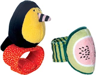 Manhattan Toy Fruity Paws Watermelon & Toucan Baby Wrist Rattle & Foot Finder Set