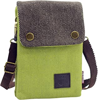 Small Canvas Cell Phone Purse Wallet Cute but Roomy Casual Shoulder Bag Crossbody Bag for Women
