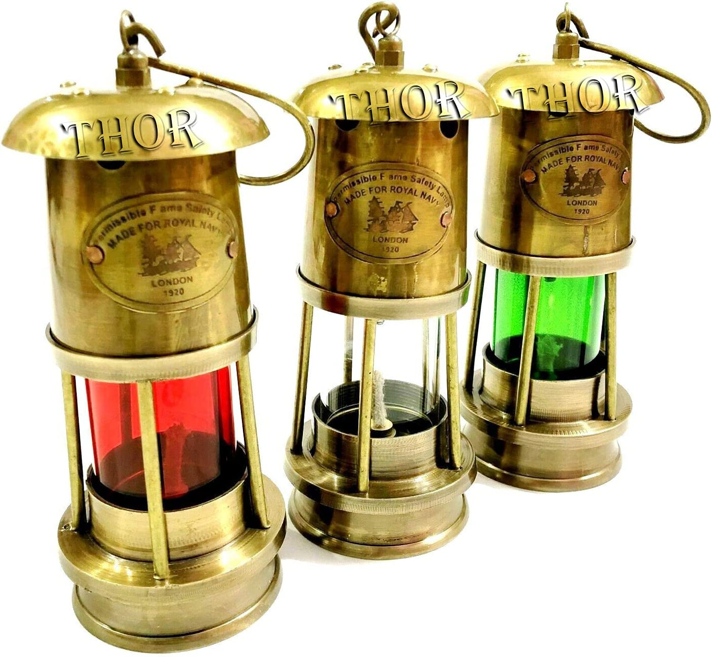 Ultra-Cheap Deals THORINSTRUMENTS with device Nautical Miner Jacksonville Mall of Three Lamps Set