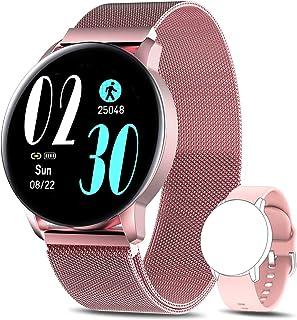 AIMIUVEI Smartwatch Mujer, Reloj Inteligente IP67 con Pulsómetro Presión Arterial 8 Modos de Deportes Monitor de Sueño, 1....
