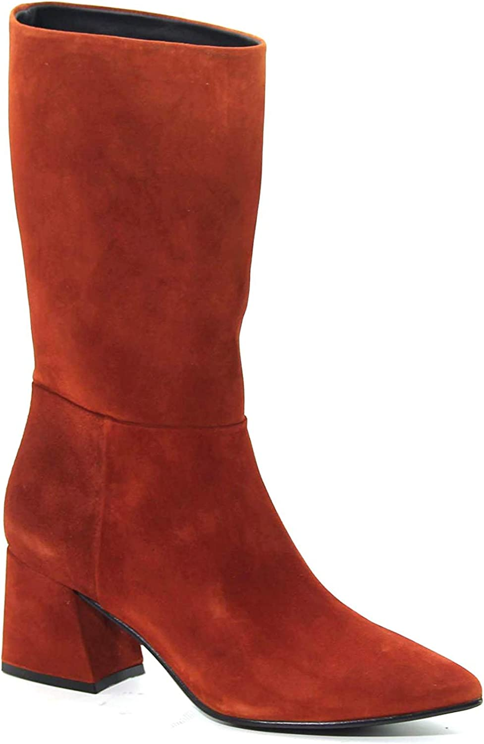 PONS QUINTANA Women's 7315006RED Brown Suede Ankle Boots