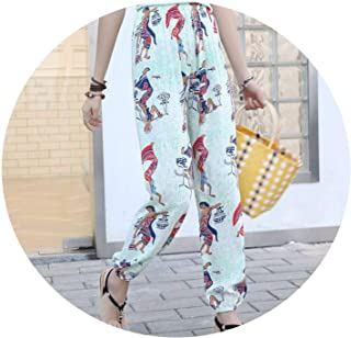Womens Pants Casual High Waist Palazzo Wide Legged Trousers Summer Plus Size Elastic Waist Harem Pants
