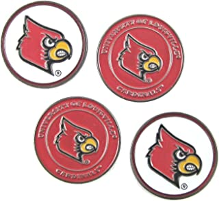 Waggle Pro Shop Louisville Cardinals Double Sided Golf Ball Markers (Set of 4)