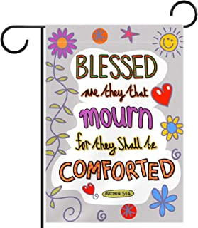 Garden Flag Yard Decor Outdoor Banner Vertical Flags,blesse dare they shall be comforted,for All Seasons Double Sized