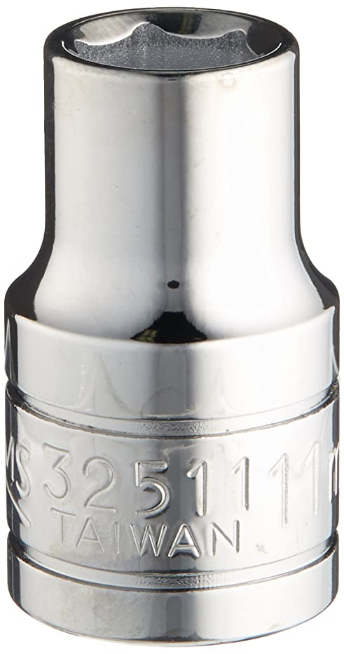 Williams 32511 1/2-Inch Drive 6 Point Shallow Socket, 11mm