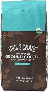 Four Sigmatic Adaptogen Ground Coffee, Organic Medium Roast Ground Coffee with Ashwagandha, Chaga & Tulsi, Immune Support ...