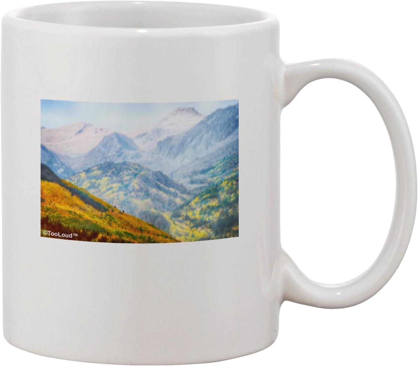 Tooloud Colorado Fog Mountains Printed 11oz Coffee Mug Kitchen Dining