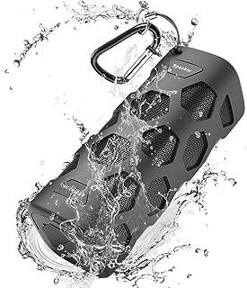 Bluetooth Speakers Waterproof Portable Speaker, Unbreakable, 20W Dual Driver, Enhanced Bass, 5200mAh Powerbank, Dustproof, Shockproof, Built-in Mic, NFC Support, 24 Hours Play for Party, Pool, Camping