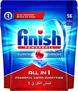 Finish Dishwasher Detergent Tablets, All in One Regular, 56s