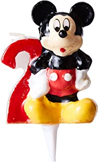Dekoback 02-08-00088 'Minnie Mouse with Number 2' Cake Candle