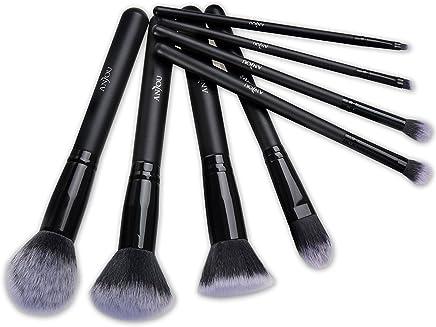 Kit de Brochas Maquillaje 8 Piezas Anjou Cerdas de Fibra Sintética Suave