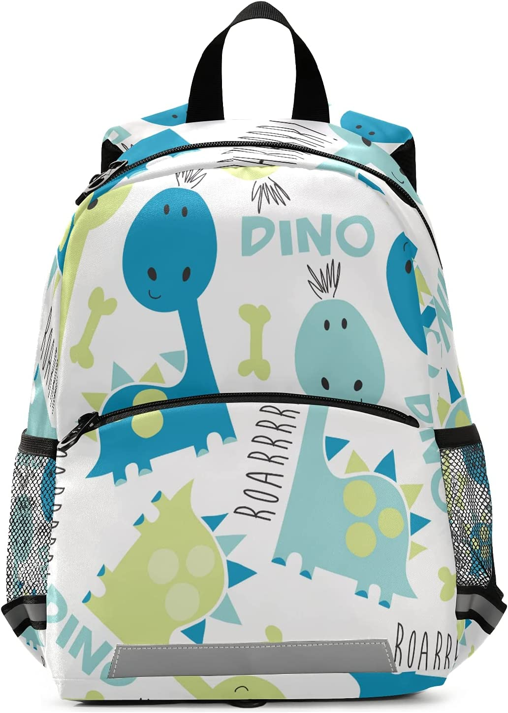 Preschool Toldder Cute Dinosaur Bombing new work White Backpack with 5 ☆ popular Leash Safety