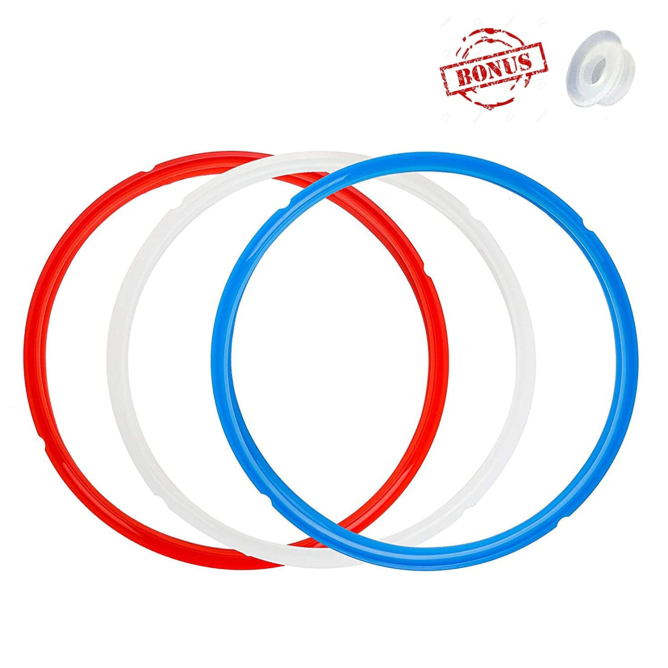 Silicone Sealing Ring and Steam Release Valve for Instant Pot, 3 Pack Sealing Ring with Release Handle for Instapot Smart/Duo - Perfect Accessories for 5/6 qt Instant Pot