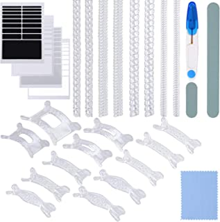 Cooraby 28 Pieces Invisible Ring Size Adjusters 3 Styles Ring Adjusters Ring Reducer Guards Ring Sizer with Scissor, Cleaning Cloth and 2 Polishing Sticks for Loose Rings