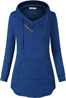 SeSe Code Women Long Sleeve V Neck Hoodie Pullover Sweatshirt with Kangaroo Pocket