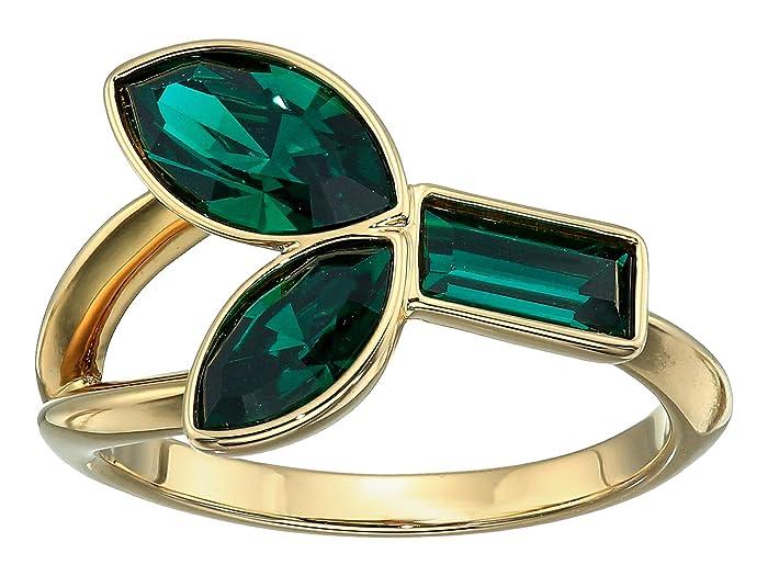Swarovski  Bamboo Ring (Erinite/Emerald) Ring