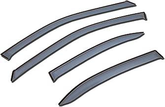 TuningPros LGWV-769 Out-Channel Window Visor Deflector Rain Guard Light Grey 4-pc Set