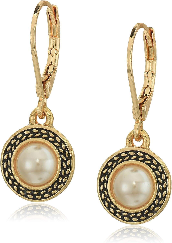 Napier Women's Pierced Earrings Pearl Drop Leverback