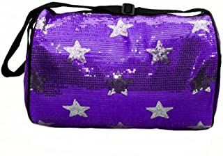 purple sequin duffle bag