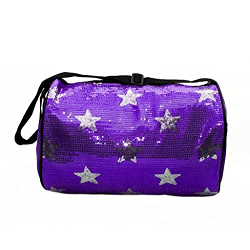 Girls Dance Duffle Sequin Star Bag with Shoulder Strap Choose Color ea5ce88b1aa1b