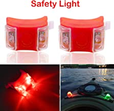 Botepon 2Pcs Boat Kayak Battery Navigation Lights Safety Lights Boat Bow Lights Stern Lights Bike Lights Pet Lights Night Running Lights with 3 Modes