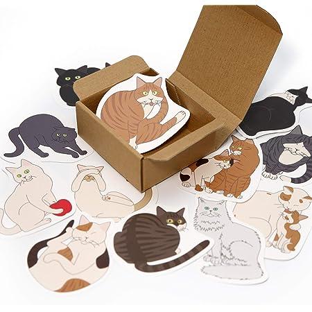 よせがき よせねこ カード 12枚 ボックス 1箱 シール 付き 猫