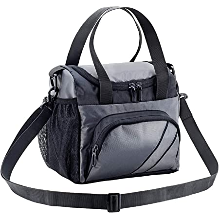 FATMUG Lunch Bags for Office Men Women and Insulated Tiffin Bag for Kids - Stylish with Zip - Grey