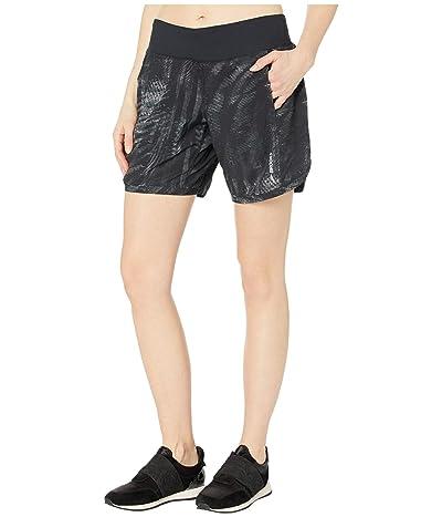 Brooks Chaser 7 Shorts (Black Motion Print/Black) Women