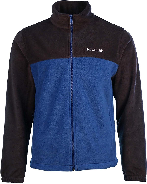 Columbia Men's Granite Mountain Fleece Jacket-Black/Blue-Small