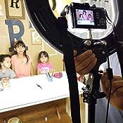 awstroe Anillo de Luz Led Producci/ón de Video Fotograf/ía Port/átil de 6 Pulgadas Regulable de Video Led C/ámara de Estudio en Vivo Anillo de Luz Foto Selfie Video Luz para Maquillaje Tatuajes