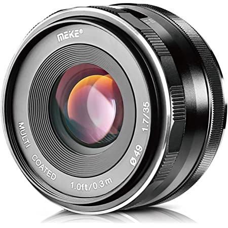 Meike 35mm F1.7 Large Aperture Manual Focus Prime Fixed Lens APS-C for Sony E-Mount Mirrorless Cameras NEX 3 3N 5 NEX 5T NEX 5R NEX 6 7 A6600 A6400 A5000 A5100 A6000 A6100 A6300 A6500 A3000