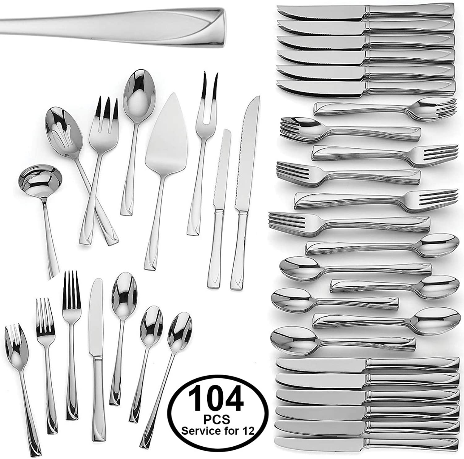 Middleton 104-piece Flatware Set by Lenox 18 10 Flatware Set Service for 12
