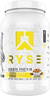 Ryse Loaded Protein Cinnamon Toast   24-25g Premium Whey Protein   MCT Healthy Fats   2 pounds   Organic Prebiotic Fiber  ...